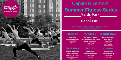 Capitol Riverfront Summer Fitness Series: barre3 in Canal Park tickets