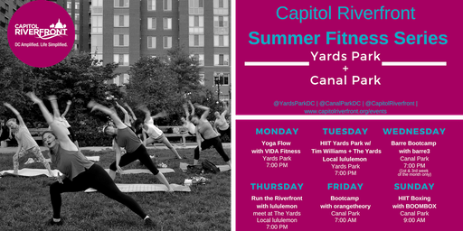 Capitol Riverfront Summer Fitness Series: barre3 in Canal Park