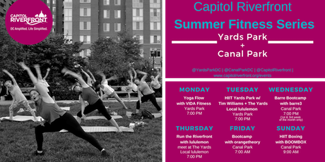 Capitol Riverfront Summer Fitness Series: Bootcamp w/ orangetheory tickets