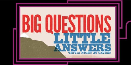 Big Questions Little Answers tickets