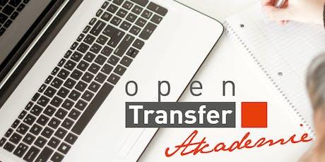 openTransfer Webinar: Lobbying für die gute Sache Tickets