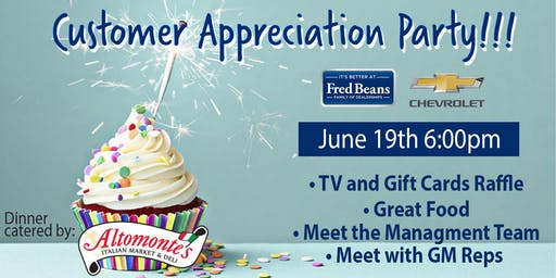 Fred Beans Chevrolet Customer Appreciation Party