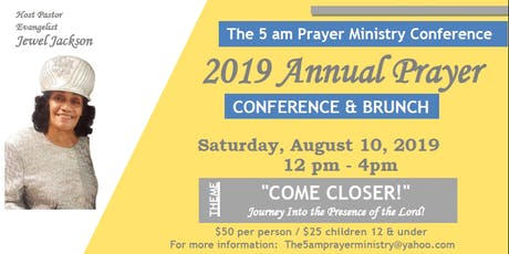 The 5 am Prayer Ministry ~ 2019 Annual Prayer Conference tickets
