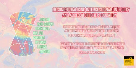 Reconceptualising Intersectional (In)Equity and Access to Higher Education tickets