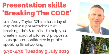 Presentation skills - breaking The CODE tickets