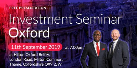 Oxford Investment Seminar on Buy2LetCars tickets