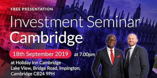 Cambridge Investment Seminar on Buy2LetCars