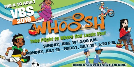 WHOOOSH! VBS 2019 Registration tickets