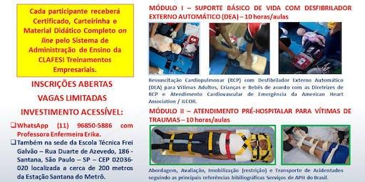Curso de Atendimento Pré-hospitalar Emergências Clínicas e Traumáticas - 20 horas/aulas