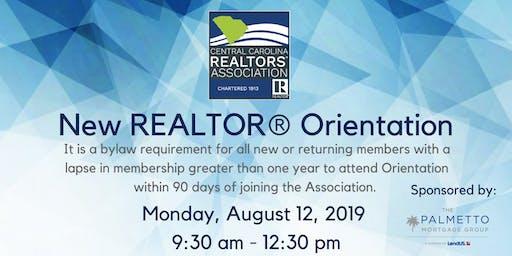 New REALTOR® Orientation - August 12th