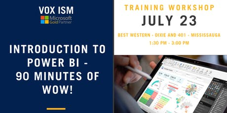 Introduction to Power BI - 90 minutes of WOW!  tickets