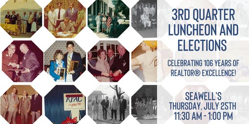 CCRA 3rd Quarter Luncheon | 106th Birthday and Elections