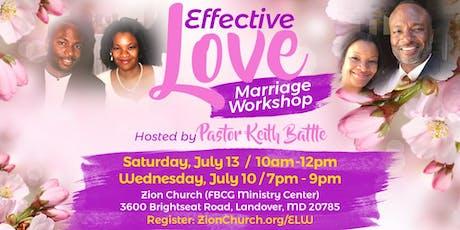 Effective Love Marriage Workshop tickets