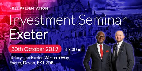 Exeter Investment Seminar on Buy2LetCars tickets