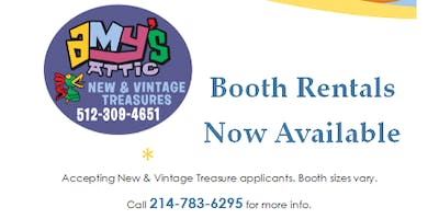 Vendor Monthly Booths Rentals Available