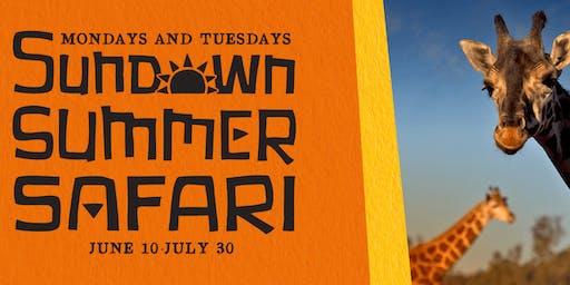 JUNE 24  Sundown Safari - Volunteer Preview Tickets