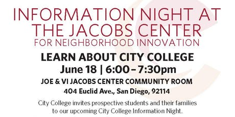 City College Information Night entradas
