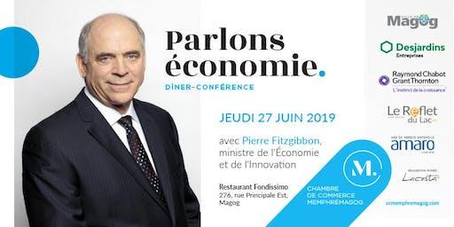 Ministre de l'économie et de l'innovation - Pierre Fitzgibbon
