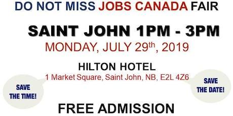 Saint John Job Fair - July 29th, 2019 billets