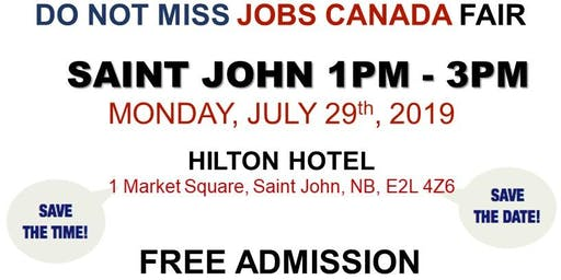 Saint John Job Fair - July 29th, 2019