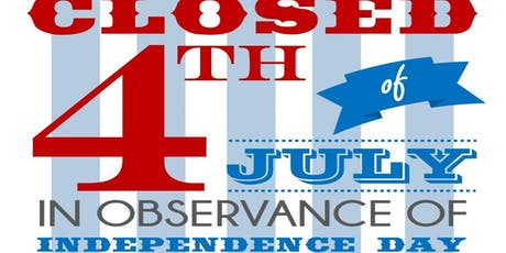NO SHOWS THIS WEEK! Happy 4th of July! tickets