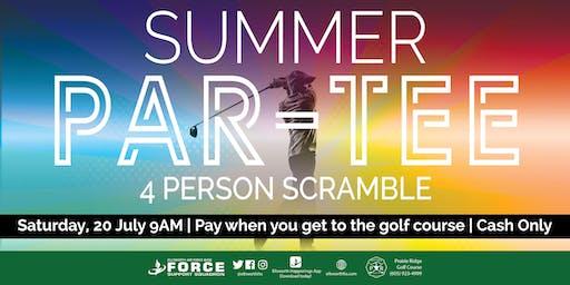 PRGC - Summer Par-Tee 4 person  golf scramble