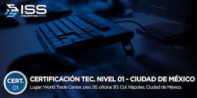 Certificación Técnica ISS Nivel 1 - del 5 al 7 de Noviembre 2019 CDMX MÉXICO