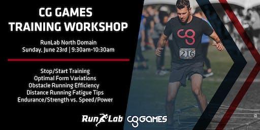 CG Games Training Workshop with RunLab