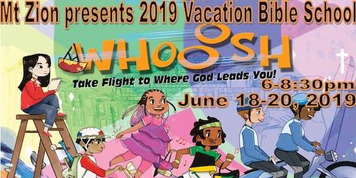 2019 Mt. Zion Vacation Bible School