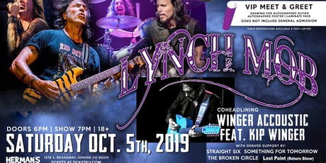 Lynch Mob with Kip Winger (Winger Acoustic) tickets