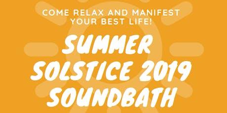 Summer Soltice 2019 Soundbath tickets