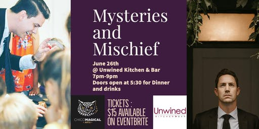 Mysteries and Mischief: Magic & Mentalism night at Unwined