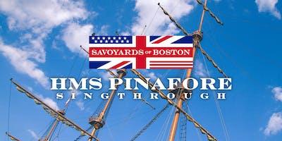 A Fundraiser Sing-Through of HMS Pinafore