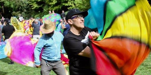 Flagging at Block Fest