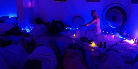 New Moon Crystal Soundbath Meditation: Perfect for all levels of meditation. Comes with Free Plant-Based Smoothie for after tickets