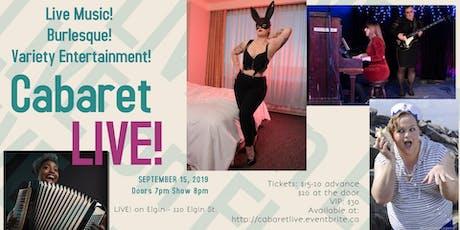 Cabaret LIVE! Autumn Edition tickets
