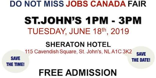 St. John's Job Fair - June 18th, 2019