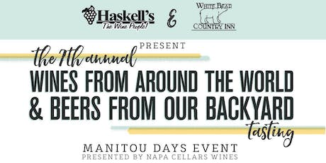 7th Annual Manitou Days Wine & Beer Tasting tickets