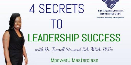 The 4 Keys To Leadership Success