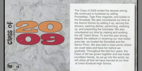 UE Class of 2009 - 10 Year Reunion! tickets