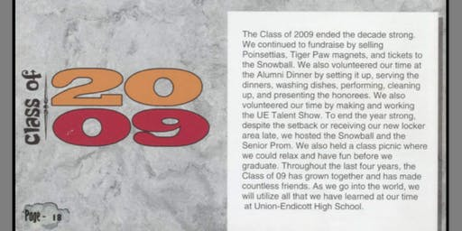 UE Class of 2009 - 10 Year Reunion!