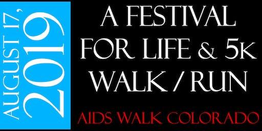 Festival For Life & 5K Walk/Run: AIDS Walk Colorado