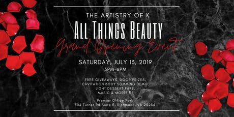 All Things Beautiful Grand Opening Event tickets