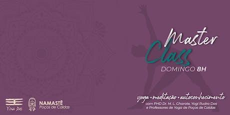 Namastê Poços de Caldas 2019 - Master Class - Domingo 08h ingressos