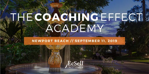 The Coaching Effect Academy by EcSell Institute, September 2019