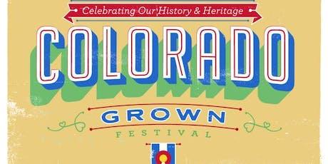COLORADO GROWN! tickets