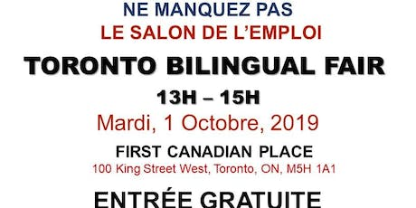 TORONTO EXPRESS BILINGUAL JOB FAIR – October 1st, 2019 tickets