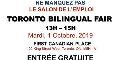TORONTO EXPRESS BILINGUAL JOB FAIR – October 1st, 2019
