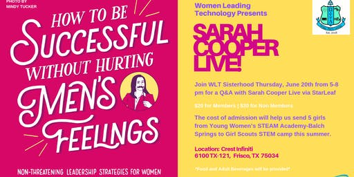 Women Leading Technology Presents Sarah Cooper LIVE