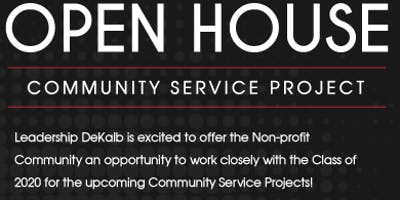 Leadership DeKalb's Community Service Project Open House
